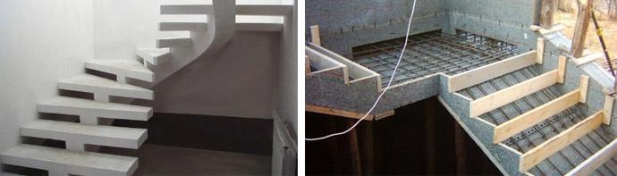 Бетонная межэтажная лестница своими руками