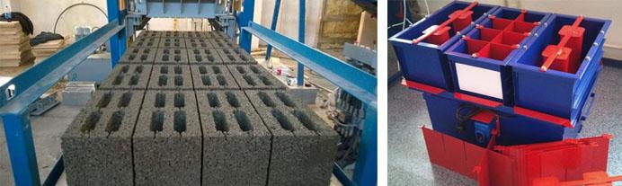 Изготовление керамзитобетонных строительных блоков