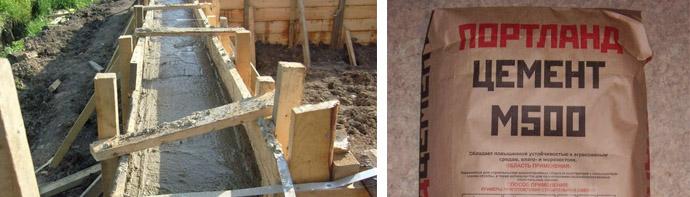 Марка бетонной смеси для фундамента