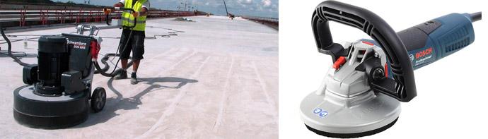 Машины для шлифовки бетона