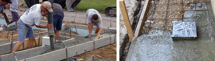 Расценки на бетонирование