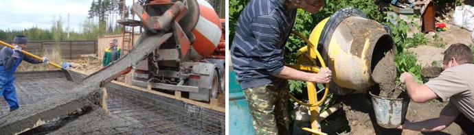 Способы замешивания бетона