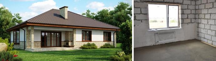 Схемы проектов пенобетонных домов