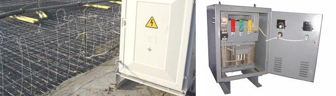 Трансформатор для нагрева бетонных смесей