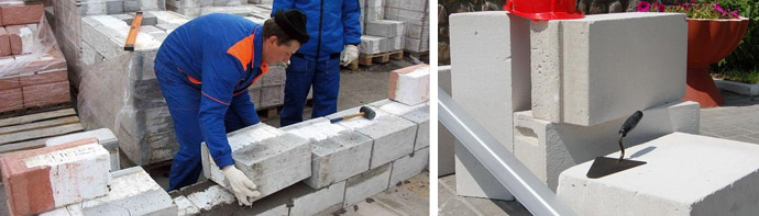 Укладка строительных блоков