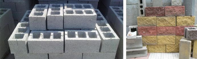 Шлакобетонные строительные блоки