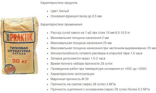 Гипсовая Бергауф Практик