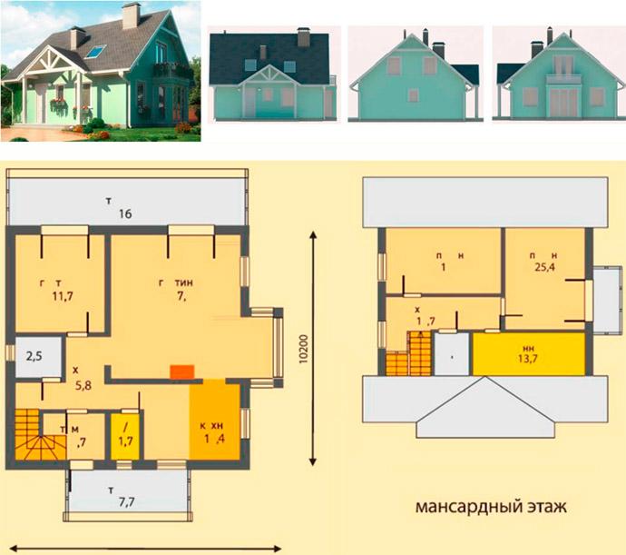Дом из пенобетона площадью 1565 м2
