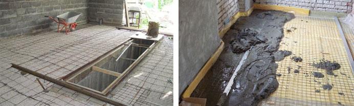 Заливка пола в гараже бетонным раствором