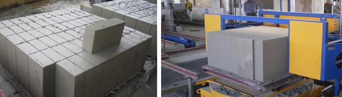 Изготовление строительных газобетонных блоков