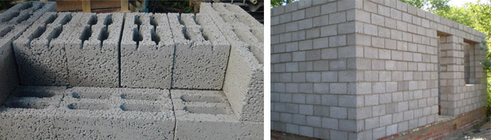 Керамзитобетонные строительные блоки