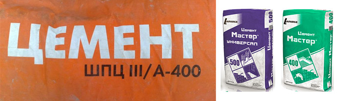 Марки цементных смесей