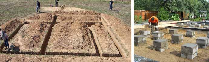 Основание на песчаном грунте