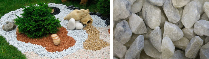 Особенности мраморной щебенки