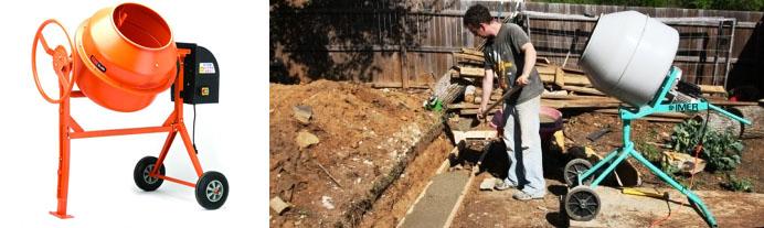 Применение бетоносмесителя