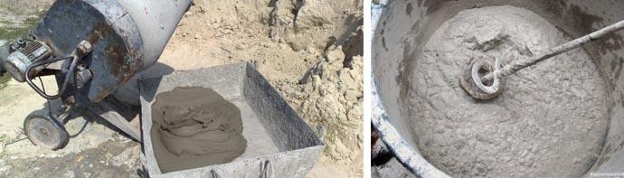 Приготовление бетона вручную пропорции