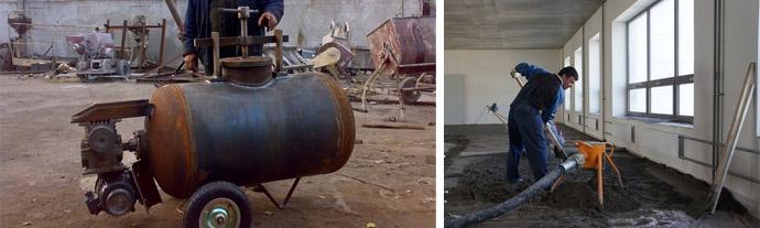Самостоятельное изготовление бетононасоса