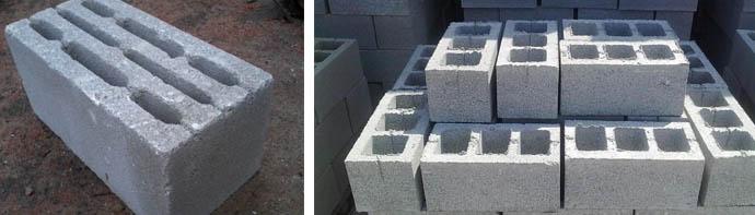 Строительные блоки из шлакобетона