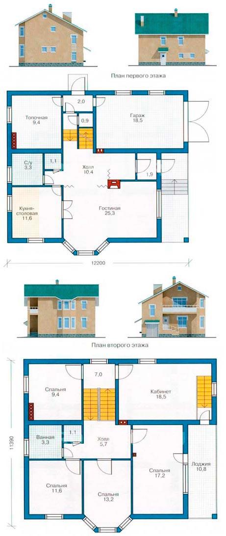 Схема дома из керамзитобетона