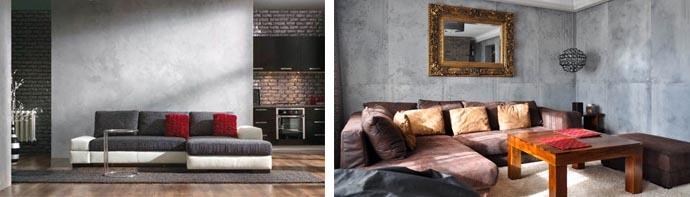 Фото интерьеров с бетонными стенами