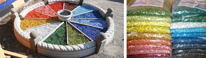 Цветная щебенка для декораций