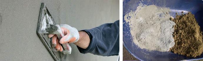 Цементная смесь для оштукатуривания стен