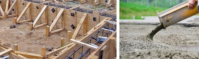 Стоимость работ по заливке ленточного фундамента в Химках