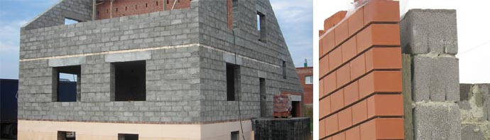 Частный керамзитобетонный дом