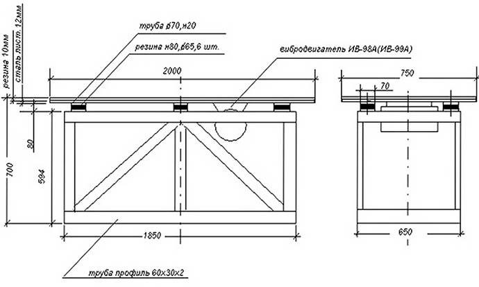 Вибростол для тротуарной плитки своими руками: чертежи, схемы и видео инструкция