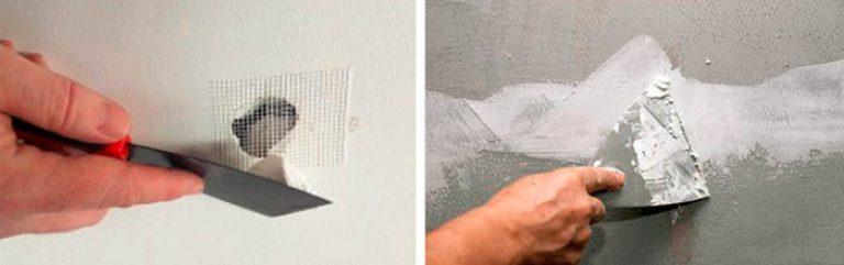 Как зашпаклевать дыры в стене своими руками 65
