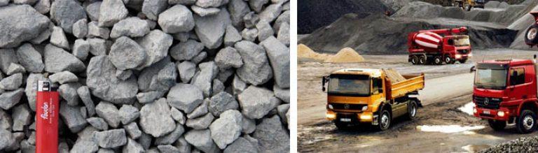 Texture of crashed grey granite gravel background