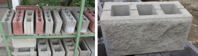 Вес шлакобетонных блоков