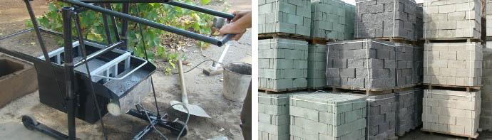 Изготовление блоков из шлакобетона