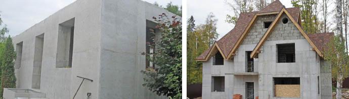 Монолитные постройки из пенобетона