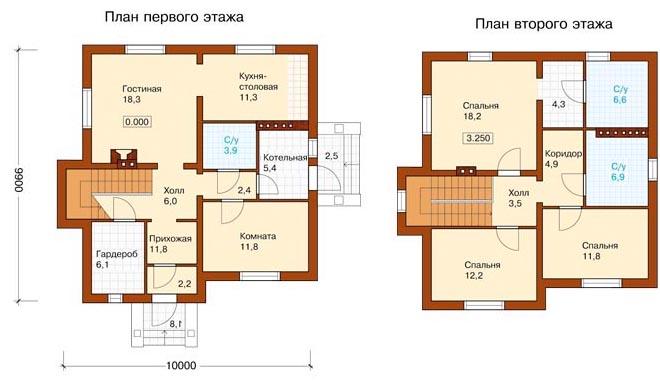 Проект дома 10х10 из арболита