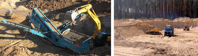 Процесс добычи песка