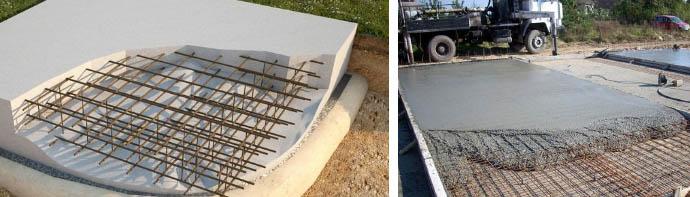 Расчет размеров фундамента плитного типа