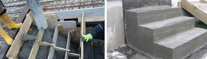 Сборка опалубочной конструкции для лестницы