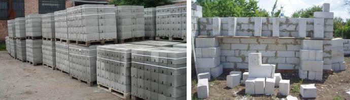 Сколько пенобетонных блоков в кубе