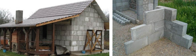 Строительство бани из пенобетона