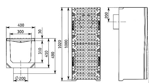 Схема водоотводной конструкции