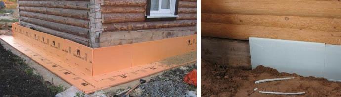 Теплоизоляция фундамента дома