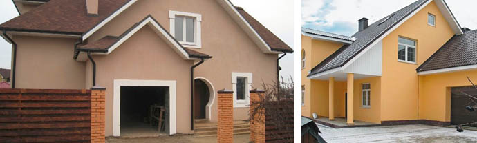 Фото домов с отделкой