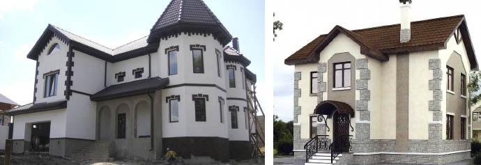 Частные арболитовые дома