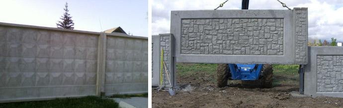 Забор из монолитных плит