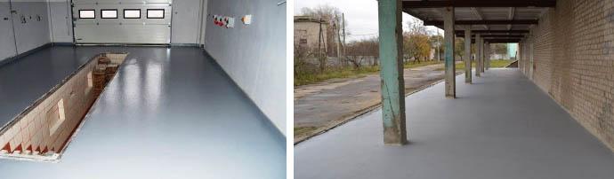 Износостойкие ЛКМ для бетона