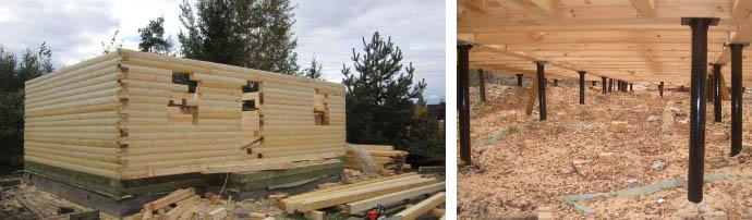 Основание для деревянного дома