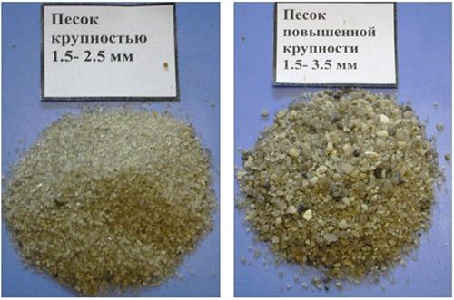 Песок повышенной крупности