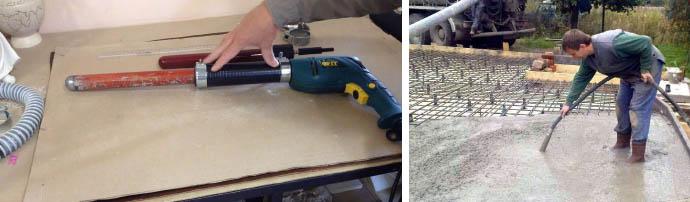 Самодельный вибратор для бетонного состава