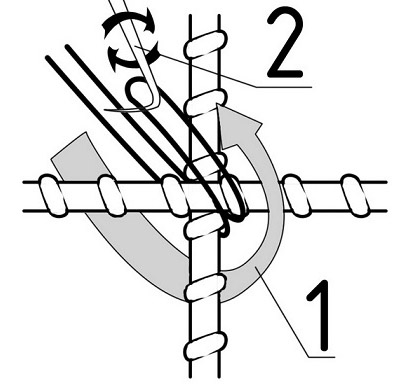 Способ вязки прутьев